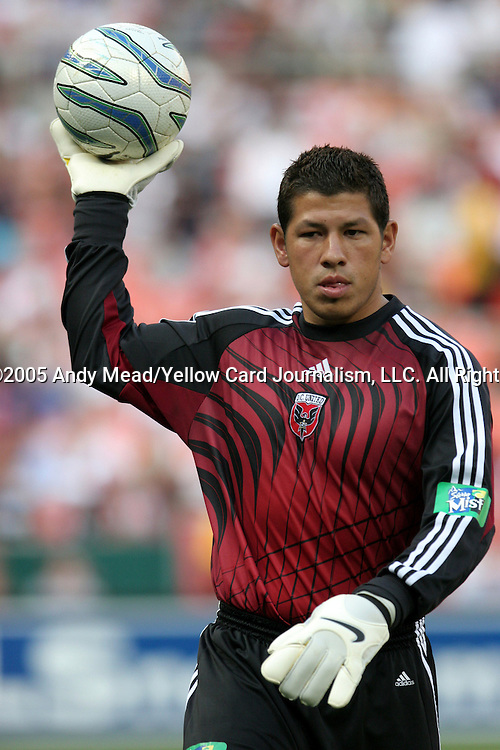 9 July 2005: Nick Rimando. The Kansas City Wizards defeated DC United 1-0 at RFK Stadium in Washington, DC in a regular season Major League Soccer game. .