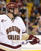 Tim Filangieri (Boston College - Islip Terrace, NY) - The Boston College Eagles defeated the Harvard University Crimson 3-1 in the first round of the 2007 Beanpot Tournament on Monday, February 5, 2007, at the TD Banknorth Garden in Boston, Massachusetts.  The first Beanpot Tournament was played in December 1952 with the scheduling moved to the first two Mondays of February in its sixth year.  The tournament is played between Boston College, Boston University, Harvard University and Northeastern University with the first round matchups alternating each year.