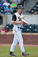 Tim Leiper (11) manger of the Jacksonville Suns during a game vs. the Carolina Mudcats May 31 2010 at Baseball Grounds of Jacksonville in Jacksonville, Florida. Jacksonville won the game against Carolina by the score of 3-2. Photo By Scott Jontes/Four Seam Images