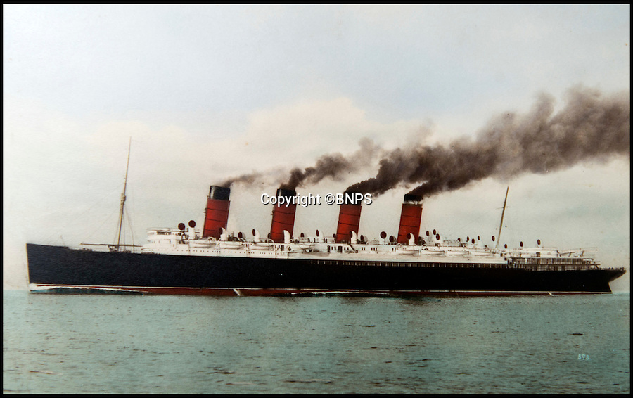 BNPS.co.uk (01202 558833)<br /> Pic: TomWren/BNPS<br /> <br /> The Mauretania.<br /> <br /> A unique piece of memorabilia from one of the most notable ships in British maritime history, RMS Mauretania, has emerged after 80 years. <br /> <br /> The 2ft x 2ft letter 'M' from the name, 'Mauretania', was attached to the starboard side of the 30,000 ton vessel and is now being sold for £10,000. <br /> <br /> The 110-year-old piece of solid brass adorned the ship's hull from its launch in 1906 until its retirement in 1934.