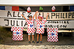 Julian Alaphilippe (FRA) fans wait for him to pass by during Stage 14 of the 2018 Tour de France running 188km from Saint-Paul-Trois-Chateaux to Mende, France. 21st July 2018. <br /> Picture: ASO/Bruno Bade | Cyclefile<br /> All photos usage must carry mandatory copyright credit (&copy; Cyclefile | ASO/Bruno Bade)
