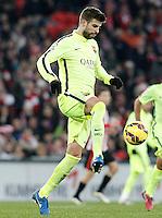 FC Barcelona's Gerard Pique during La Liga match.February 8,2015. (ALTERPHOTOS/Acero) /NORTEphoto.com