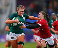 9th February 2020; Energia Park, Dublin, Leinster, Ireland; International Womens Rugby, Six Nations, Ireland versus Wales; Dorothy Wall of Ireland fights off the defenders tackle