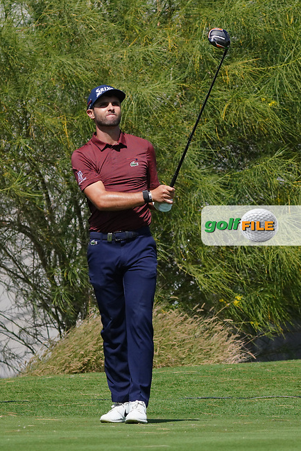 Adri Arnaus (ESP) on the 18th during the Pro-Am of the Commercial Bank Qatar Masters 2020 at the Education City Golf Club, Doha, Qatar . 04/03/2020<br /> Picture: Golffile | Thos Caffrey<br /> <br /> <br /> All photo usage must carry mandatory copyright credit (© Golffile | Thos Caffrey)