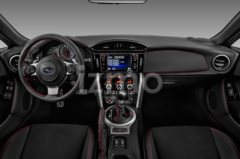 Stock photo of straight dashboard view of 2017 Subaru BRZ Limited 2 Door Coupe Dashboard