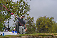 Bubba Watson (USA) signals left on his tee shot on 12 during day 5 of the World Golf Championships, Dell Match Play, Austin Country Club, Austin, Texas. 3/25/2018.<br /> Picture: Golffile | Ken Murray<br /> <br /> <br /> All photo usage must carry mandatory copyright credit (&copy; Golffile | Ken Murray)
