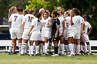 SAN ANTONIO, TX - SEPTEMBER 18, 2008: The West Texas A&M University Lady Buffaloes vs. the St. Mary's University Rattlers Women's Soccer at the St. Mary's Soccer Field. (Photo by Jeff Huehn)