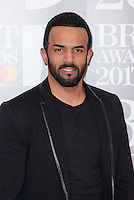 www.acepixs.com<br /> <br /> February 22 2017, London<br /> <br /> Craig David arriving at The BRIT Awards 2017 at The O2 Arena on February 22, 2017 in London, England.<br /> <br /> By Line: Famous/ACE Pictures<br /> <br /> <br /> ACE Pictures Inc<br /> Tel: 6467670430<br /> Email: info@acepixs.com<br /> www.acepixs.com
