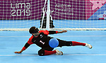 Goalball men compete at the 2019 ParaPan American Games in Lima, Peru-31aug2019-Photo Scott Grant