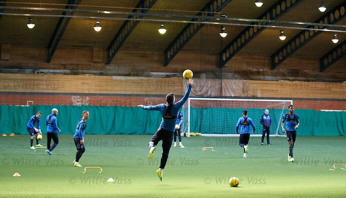 Rangers training indoors today