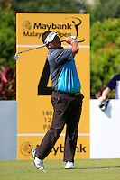 Prom Meesawat (THA) on the 4th tee green during Round 3 of the Maybank Malaysian Open at the Kuala Lumpur Golf & Country Club on Saturday 7th February 2015.<br /> Picture:  Thos Caffrey / www.golffile.ie