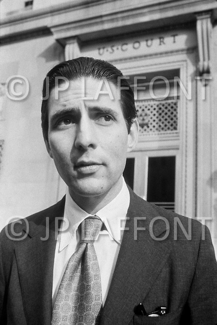 November 1971, USA --- Herbert J. Stern, U.S. District judge for the District of New Jersey. Judge Stern became famous after the best-seller book A Tiger in the Court and for his five-volume treatise Trying Cases to Win. He is the author of Judgment in Berlin an award-winning account of his conduct of an airplane hijacking trial in 1979, when he served as the U.S. Judge for Berlin. This book inspired a motion picture Judgment in Berlin (Escape to Freedom). --- Image by © JP Laffont