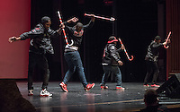 Kappa Alpha Psi performs. Occidental College students perform and compete during Apollo Night, one of Oxy's biggest talent showcases, on Friday, Feb. 26, 2016 in Thorne Hall. Sponsored by ASOC, hosted by the Black Student Alliance as part of Black History Month.<br /> (Photo by Marc Campos, Occidental College Photographer)
