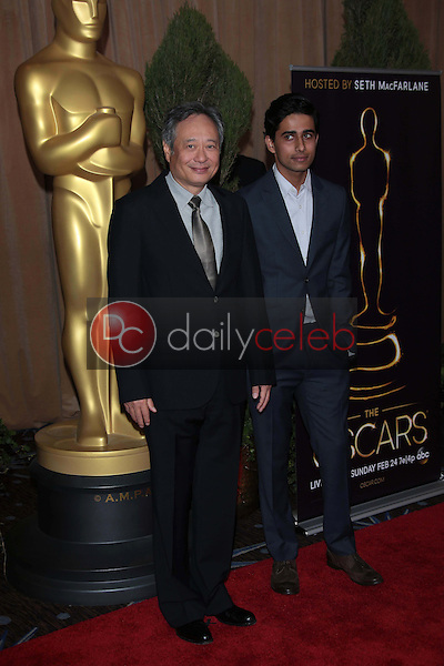 Ang Lee and Suraj Sharma<br /> at the 85th Academy Awards Nominations Luncheon, Beverly Hilton, Beverly Hills, CA 02-04-13<br /> David Edwards/DailyCeleb.com 818-249-4998