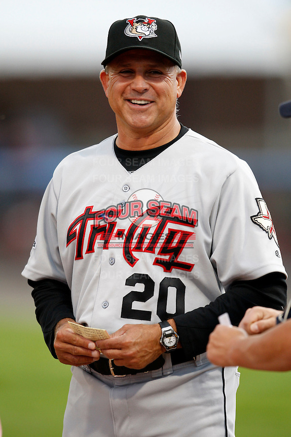 July 17, 2009:  Manager Jim Pankovits of the Tri-City ValleyCats during a game at Dwyer Stadium in Batavia, NY.  The ValleyCats are the Short-Season Class-A affiliate of the Houston Astros.  Photo By Mike Janes/Four Seam Images