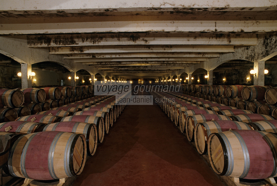 Europe/France/Aquitaine/33/Gironde/Martillac : Chateau de Smith Haut-Lafitte - Les chais - AOC Pessac Leognan