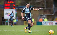 Sam Wood of Wycombe Wanderers chases down the ball during the Sky Bet League 2 match between Wycombe Wanderers and Leyton Orient at Adams Park, High Wycombe, England on 23 January 2016. Photo by Andy Rowland / PRiME Media Images.