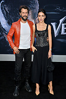 LOS ANGELES, CA. October 01, 2018: Stefan Kapicic &amp; Ivana Horvat at the world premiere for &quot;Venom&quot; at the Regency Village Theatre.<br /> Picture: Paul Smith/Featureflash