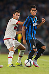 Mattia De Sciglio of AC Milan (R) competes for the ball with Pedro Miguel Gomes Delgado of FC Internazionale Milano (R) during the AC Milan vs FC Internacionale as part of the International Champions Cup 2015 at the looks onnggang Stadium on July 25, 2015 in Shenzhen, China.  Photo by Aitor Alcalde / Power Sport Images