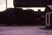 Fireman's-side view of D&amp;RGW #463 parked behind the Alamosa unwheeling hoist.<br /> D&amp;RGW  Alamosa, CO