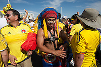 Santa Clara, CA - Friday June 3, 2016:  Colombia fans before the game. USA played Colombia in the opening match of the Copa América Centenario game at Levi's Stadium.