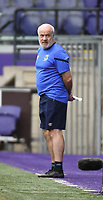 20190813 - ANDERLECHT, BELGIUM : Linfield's coach Philip Lewis pictured during the female soccer game between the Belgian RSCA Ladies – Royal Sporting Club Anderlecht Dames  and the Northern Irish Linfield ladies FC , the third and final game for both teams in the Uefa Womens Champions League Qualifying round in group 8 , Tuesday 13 th August 2019 at the Lotto Park Stadium in Anderlecht  , Belgium  .  PHOTO SPORTPIX.BE   DIRK VUYLSTEKE