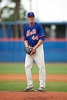 GCL Mets pitcher Josh Prevost (44) gets ready to deliver a pitch during the second game of a doubleheader against the GCL Marlins on July 24, 2015 at the St. Lucie Sports Complex in St. Lucie, Florida.  The game was suspended in the first inning due to rain.  (Mike Janes/Four Seam Images)