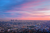 Los Angeles CA, Skyline, Sunset