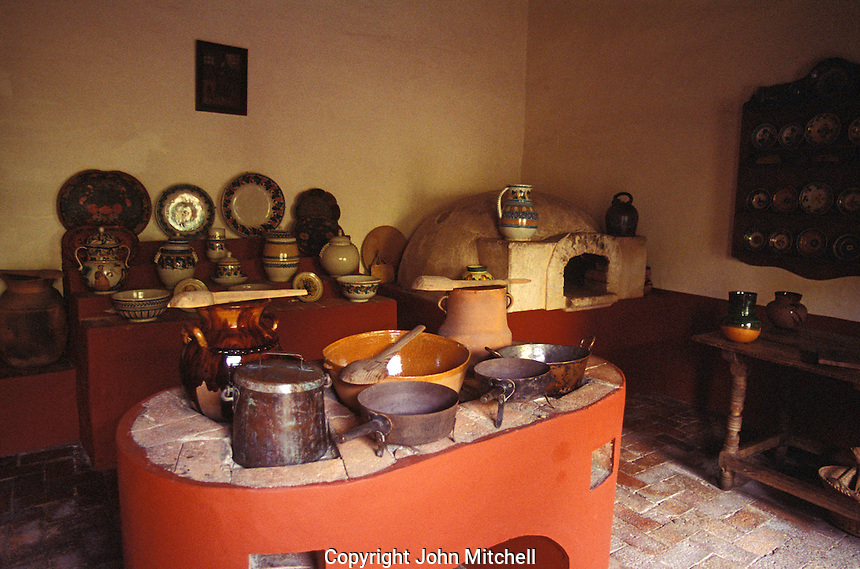 Kitchen in the Museo Casa de Hidalgo, former home of Mexican revolutionary hero Miguel Hidalgo in the town of Dolores Hidalgo, Mexico