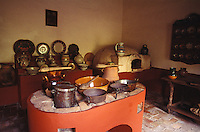 Kitchen in the Museo Casa de Hidalgo, former home of Mexican revolutionary hero Miguel Hidalgo in the town of Dolores Hidalgo, Mexico
