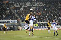 VOETBAL: SC HEERENVEEN: Abe Lenstra Stadion, 17-02-2012, SC-Heerenveen-NAC, Eredivisie, Eindstand 1-0, Viktor Elm, Kees Luijckx, ©foto: Martin de Jong