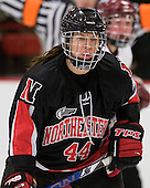 Stephanie Gavronsky (NU - 44) - The Harvard University Crimson defeated the Northeastern University Huskies 1-0 to win the 2010 Beanpot on Tuesday, February 9, 2010 at Bright Hockey Center in Cambridge, Massachusetts.