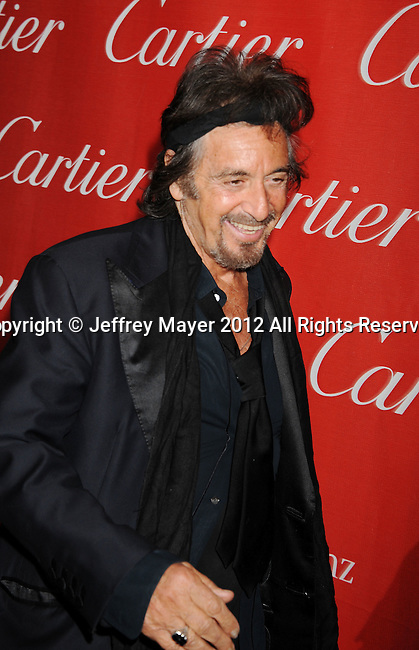 PALM SPRINGS, CA - JANUARY 07: Al Pacino arrives at the 2012 Palm Springs Film Festival Awards Gala at the Palm Springs Convention Center on January 7, 2012 in Palm Springs, California.