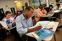 Students attending class at Myers Park High School in Charlotte, NC, (Mecklenburg County). Myers Park High School is part of CMS, Charlotte-Mecklenburg Schools, a public school system that is the second-largest school district in North Carolina and the 20th-largest school system in the nation.