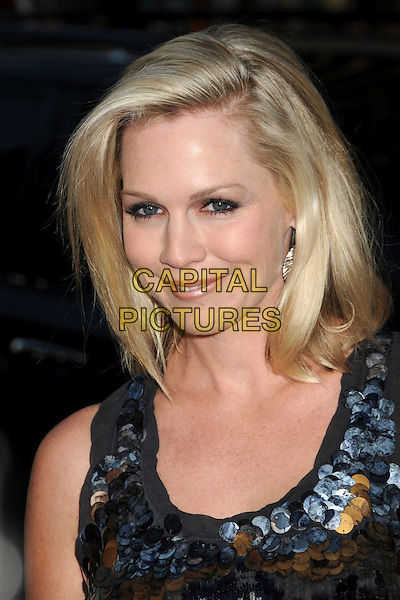 "JENNIE GARTH .Attending ""Letters To Juliet"" Los Angeles Premiere held at Grauman's Chinese Theatre, Hollywood, California , USA, .11th May 2010..arrivals portrait headshot smiling make-up silver gold grey gray sequined sequin paillettes  blue navy .CAP/ADM/BP.©Byron Purvis/AdMedia/Capital Pictures."