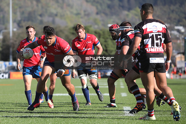 NELSON, NEW ZEALAND - SEPTEMBER 23: Mitre 10 Cup- Tasman Mako v Counties  on September 23 2018 in Nelson, New Zealand. (Photo by:  Shuttersport Limited)