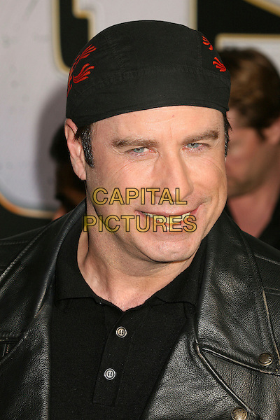 "JOHN TRAVOLTA.""Wild Hogs"" Los Angeles Premiere at the El Capitan Theatre, Hollywood, California, USA..February 27th, 2007.headshot portrait black bandana .CAP/ADM/BP.©Byron Purvis/AdMedia/Capital Pictures"