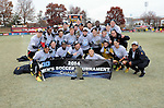 Maryland Mens Soccer celebrate after winning the Big Ten Championship. Photo by: Greg Fiume