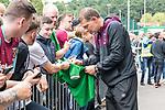29.07.2017, Heinz-Dettmer-Stadion, Lohne, GER, FSP, SV Werder Bremen vs West Ham United<br /> <br /> im Bild<br /> Slaven Bilic (West Ham Trainer / Head Coach) gibt Autogramme, unterschreibt ein Werder Trikot / Slaven Bilic (West Ham Trainer / Head Coach) signing autographs, signing a Werder Bremen jersey, <br /> <br /> <br /> Foto &copy; nordphoto / Ewert