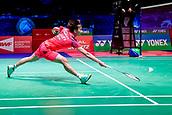 17th March 2018, Arena Birmingham, Birmingham, England; Yonex All England Open Badminton Championships; Chen Yufei (CHN) in her semi-final match against Tai Tzu Ying (TPE)