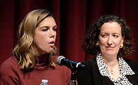 WEST HOLLYWOOD, CA - NOVEMBER 28: Rosette Laursen, Cynthia Bamforth, at Women In Film Speaker Series Presents Sexual & Gender Abuse in the Workplace at The West Hollywood Library in West Hollywood, California on November 28, 2017. Credit: Faye Sadou/MediaPunch /NortePhoto.com NORTEPOTOMEXICO