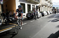 Ben Swift (GBR/SKY) on the Via Roma post-race<br /> <br /> 106th Milano - San Remo 2015