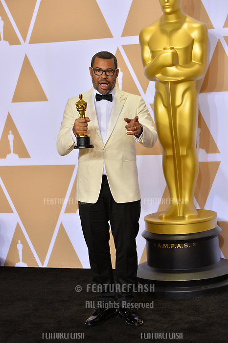 Jordan Peele at the 90th Academy Awards Awards at the Dolby Theartre, Hollywood, USA 04 March 2018<br /> Picture: Paul Smith/Featureflash/SilverHub 0208 004 5359 sales@silverhubmedia.com