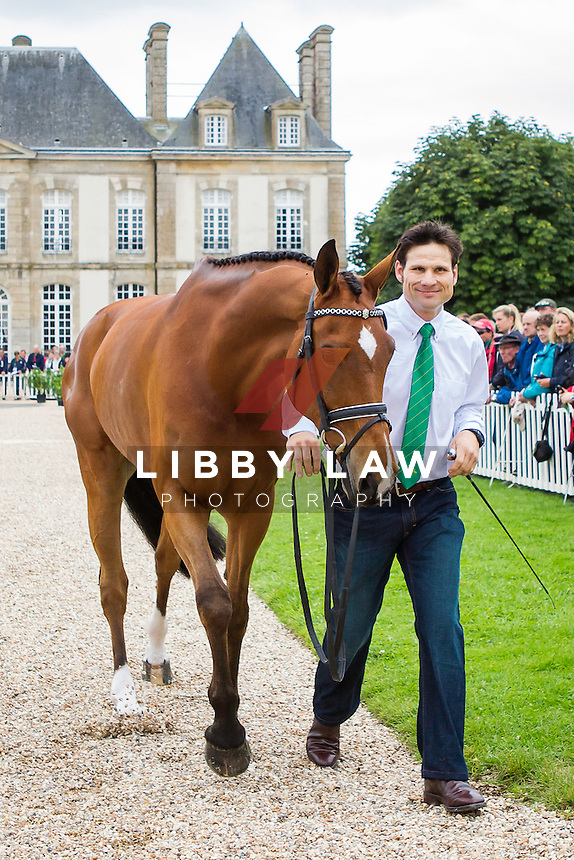 AUS-Shane Rose (TAURUS) FIRST HORSE INSPECTION: EVENTING: The Alltech FEI World Equestrian Games 2014 In Normandy - France (Wednesday 27 August) CREDIT: Libby Law COPYRIGHT: LIBBY LAW PHOTOGRAPHY - NZL
