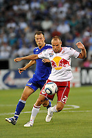 Joel Lindpere #20, Jack Jewsbury...Kansas City were defeated 3-0 by New York Red Bulls at Community America Ballpark, Kansas City, Kansas.