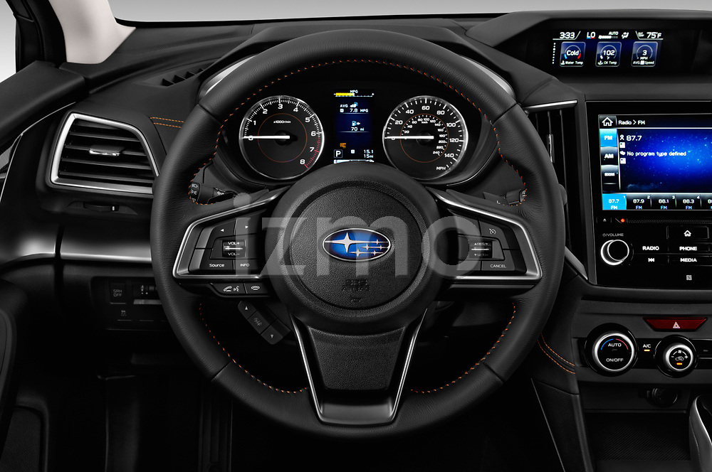 Car pictures of steering wheel view of a 2018 Subaru Crosstrek Limited CVT 5 Door SUV