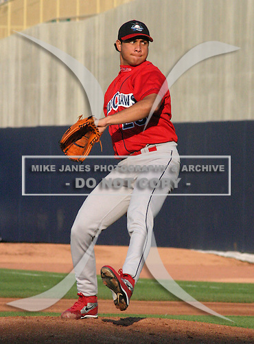 June 28, 2003:  Pitcher Francisco Butto of the Lakewood Blueclaws during a game at Classic Park in Eastlake, Ohio.  Photo by:  Mike Janes/Four Seam Images