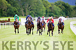 Boyfriend Brown (red and Yellow) the 6/4 fav wins the first race at Killarney races on Monday evening ahead of Eagle Spirit 15/8 and Brids of prey 16-1