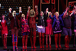 'Panic! at The Disco's' Brendon Urie makes his broadway debut as 'Charlie Price' in 'Kinky Boots' with J. Harrison Ghee and cast on Broadway at The Al Hirschfeld Theatre on June 4, 2017 in New York City.