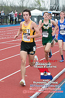 Festus senior Tyler Gilliam leads the boys 3200-meters on his way to a 2nd place finish in a personal record of 9:14.78 at the 2015 Kansas Relays.
